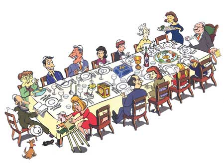 כיצד נשרוד את ארוחת ליל הסדר